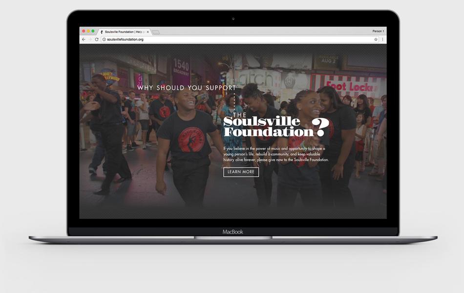 Soulsville website laptop mockup