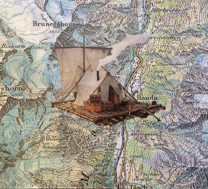 Cabin Raft - Collage