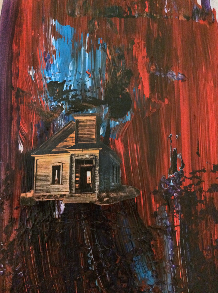 Home - mixed media art