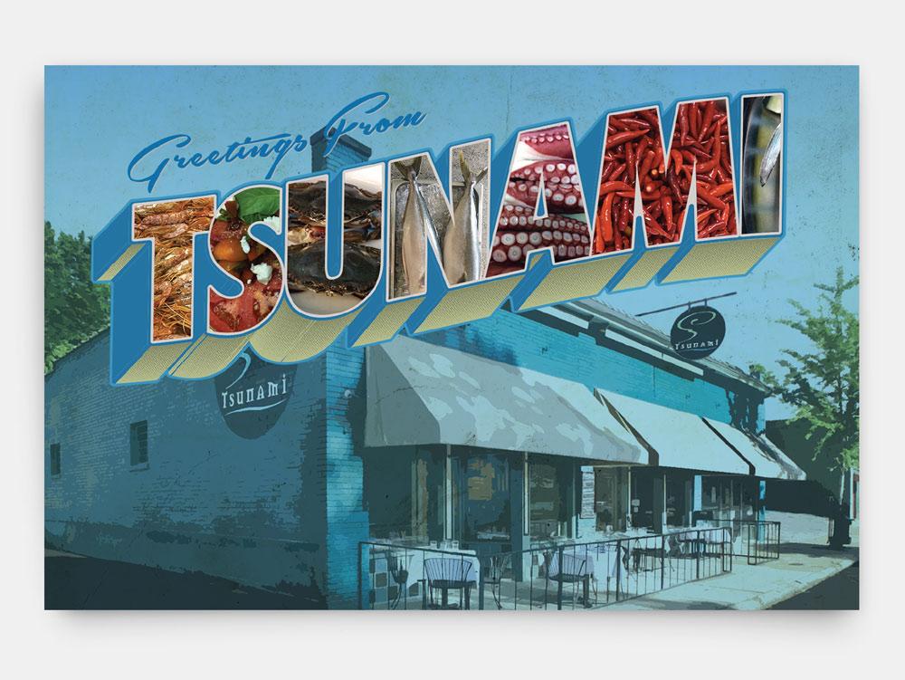 Tsunami Postcard front